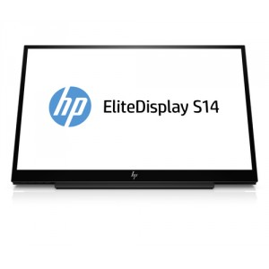 "HP EliteDisplay S14 LED display 35,6 cm (14"") Full HD Plana Mate Negro"