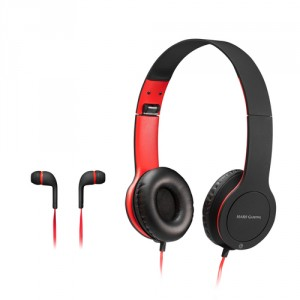 Mars Gaming MHCX Casque audio Arceau Binaural Noir, Rouge