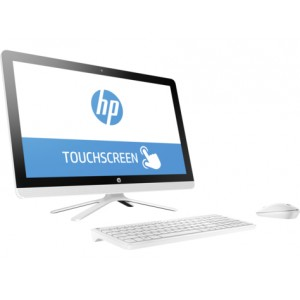 HP 24-g001ns - Todo en uno - 1 x Core i3 6100U / 2.3 GHz - RAM 8 GB - HDD 1 TB - DVD SuperMulti - HD Graphics 520 - GigE - WLAN: