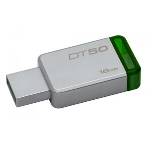 Kingston Technology DataTraveler 50 16GB 16GB USB 3.0 (3.1 Gen 1) Type-A Verde, Plata unidad flash USB
