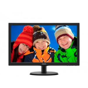 "Philips 223V5LHSB 21.5"" Full HD TFT Negro pantalla para PC"