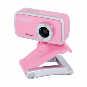 Approx WEB CAM USB 2.0 COLOR ROSA CON MICROFONO 1.3MP APPWC02P