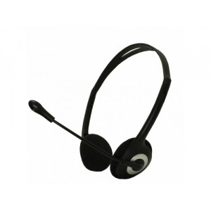 Approx HEADSET STEREO APPHSEA JACK 3.5mm MICROFONO AJUSTABLE CONTROL DE VOLUMEN COLOR NEGRO