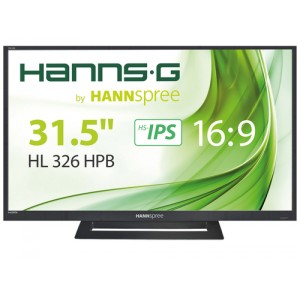 Hannspree 32 16:9 HDMI HANNS-G HL326HPB HDMI VGA IPS 1920 x 1080 300cd/m² MULTIMEDIA 40.000.000:1 178°H/178°V 8MS USBS