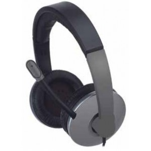 Approx HEADSET MULTIMEDIA ESTEREO CONTROL DE VOLUMEN MICRO INCORPORADO CABLE DE 1.8M COLOR GRIS