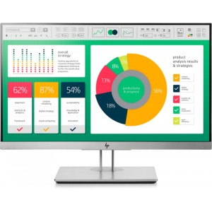 "HP EliteDisplay E223 LED display 54,6 cm (21.5"") Full HD Plana Negro, Plata"