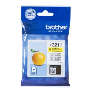 Brother LC-3211Y 200páginas Amarillo cartucho de tinta