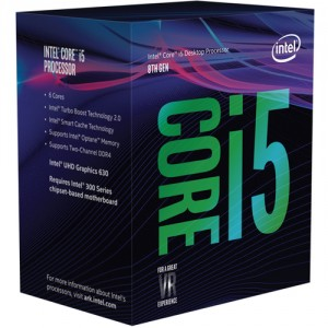 Intel Core ® ™ i5-8400 Processor (9M Cache, up to 4.00 GHz) 2.8GHz 9MB Smart Cache Caja procesador
