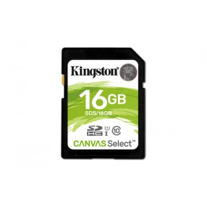 Kingston Technology Canvas Select 16GB SDHC UHS-I Clase 10 memoria flash