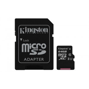 Kingston Technology Canvas Select 64GB MicroSD UHS-I Clase 10 memoria flash