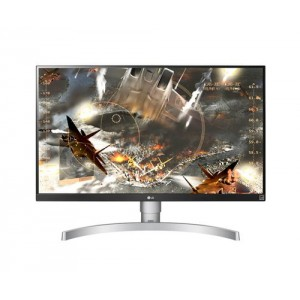 "LG 27UK650-W 27"" 4K Ultra HD LED Plana Plata, Blanco pantalla para PC LED display"